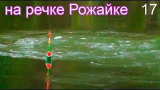 Рыбалка на маленькой речке на поплавок часть 17, ловля на течении и в затишке, съёмка под водой Fish