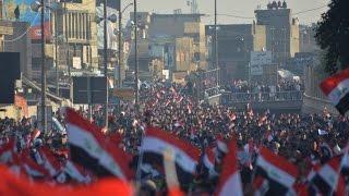التيار الصدري ينهي تظاهرته في ساحة التحرير ببغداد
