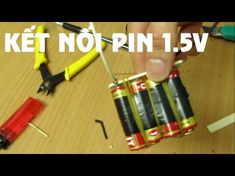 Hướng Dẫn kết nối những quả pin 1.5 V - Sáng Tạo Vặt