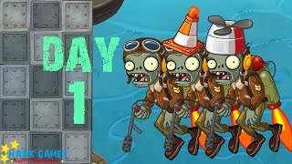 Plants vs. Zombies 2 China - Castle in the Sky - Day 1