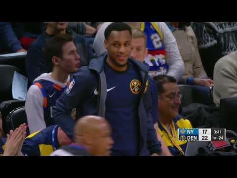 2nd Quarter, One Box Video: Denver Nuggets vs. New York Knicks