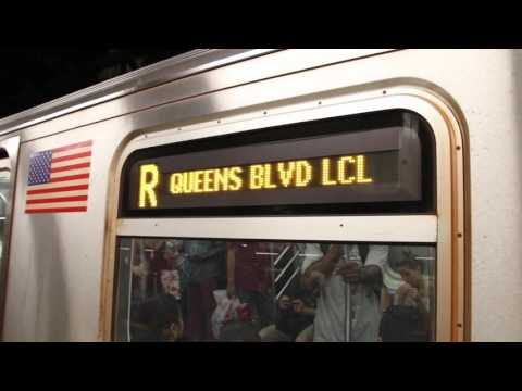 MTA NYC Subway R train leaving Times Square (Canon EOS 7D video test)