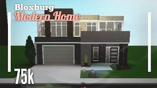 (75K) Empty Modern Family House SpeedBuild - Bloxburg ROBLOX