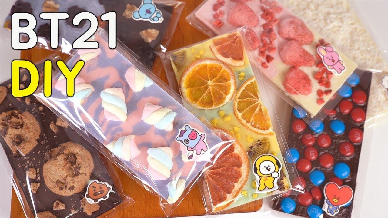 BT21 초콜릿 만들기 (이것은 초콜릿인가 굿즈인가) DIY BT21 Chocolate For Best Friend!