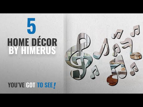 Top 10 Home Décor By Himerus [ Winter 2018 ]: Ximei Modern Acrylic Mirror Music Note Home