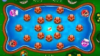 ГОВОРЯЩИЙ ТОМ АКВАПАРК ОХОТА ЗА ЯЙЦАМИ  #3 мультик игра видео для детей  Talking Tom Pool Egg Hunt