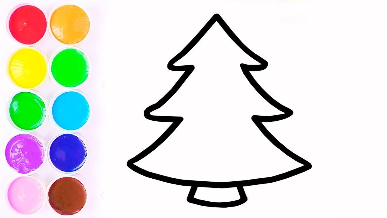 Aprende Colores Dibuja Y Colorea Arbol Del Navidad Learn Colors Videos Para Niños Funkeep