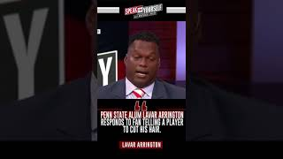 Lavar Arrington Reacts To Penn State Fan Telling A Player To Cut His Hair