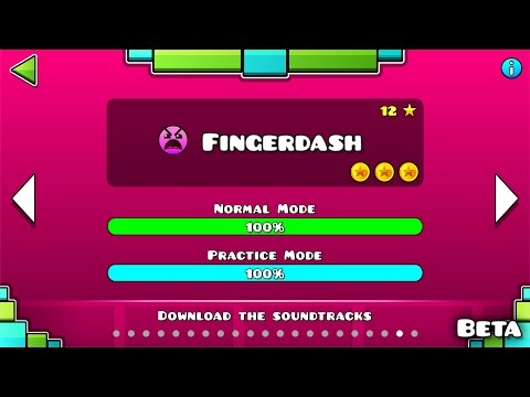 Geometry Dash - 'Fingerdash' (BETA) 100% Complete [All Coins] | GuitarHeroStyles