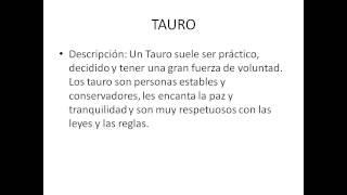 Caracteristicas de los signos del zodiaco - Caracteristicas de Tauro