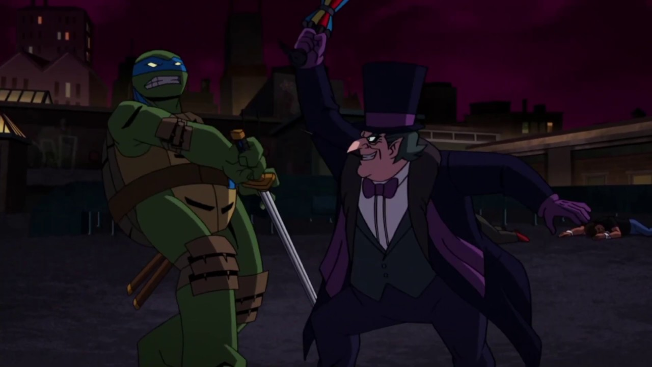 Download Gotham is BONKERS YO!   Batman vs Teenage Mutant Ninja Turtles
