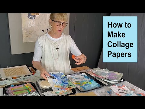 How to Make Collage Papers / Art with Adele