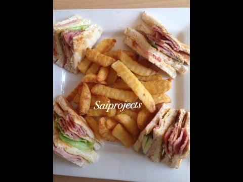 How to make Club Sandwiches-Club Sandwich Recipe(American Style)