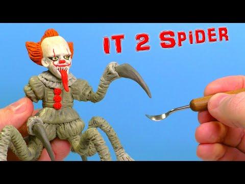 Клоун Пеннивайз Паук 🤡 Лепим из пластилина   Оно 2
