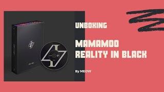 Unboxing MAMAMOO ALBUM - reality in BLACK 마마무 정규 앨범 힙 언박싱