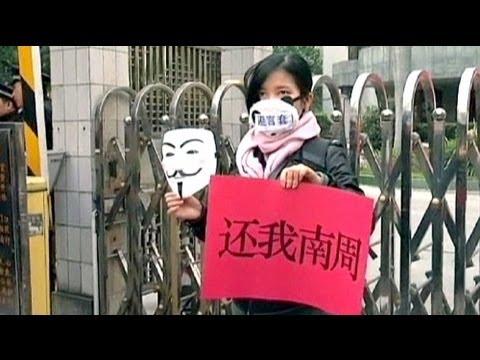 Proteste in China gegen Zensur der Presse