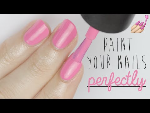 How To Paint Your Nails Perfectly With Your Left Hand