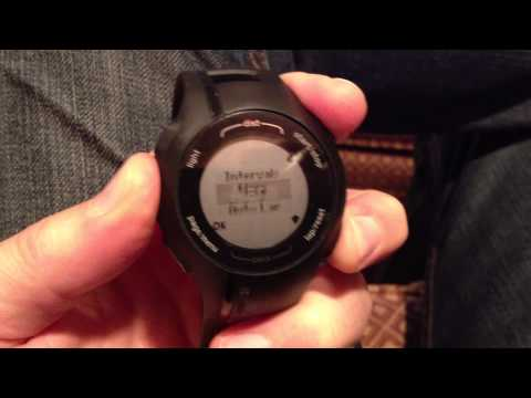 How to review your lap times on a Garmin Forerunner 210