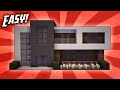 Minecraft How To Build A Small Modern House Tutorial 13