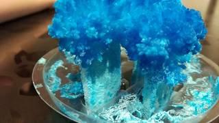 учимся выращивать красивый кристалл из соли LORI СИНИЙ ЛУЧИСТЫЙ КРИСТАЛЛ!!!