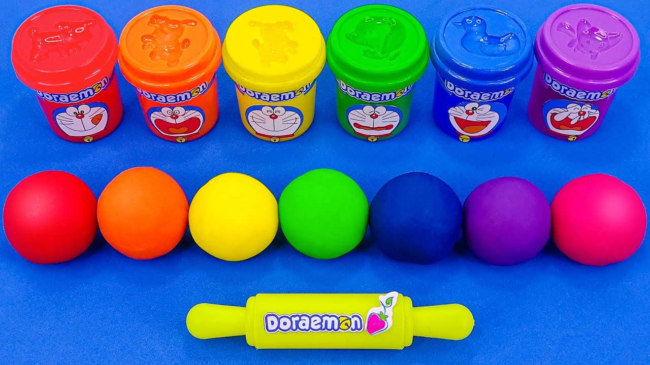 Satisfying Video l How To Make Rainbow Balls With Playdoh Cutting ASMR #264 Bon Bon
