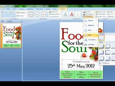 Poster Making Using Microsoft Powerpoint - YouTube