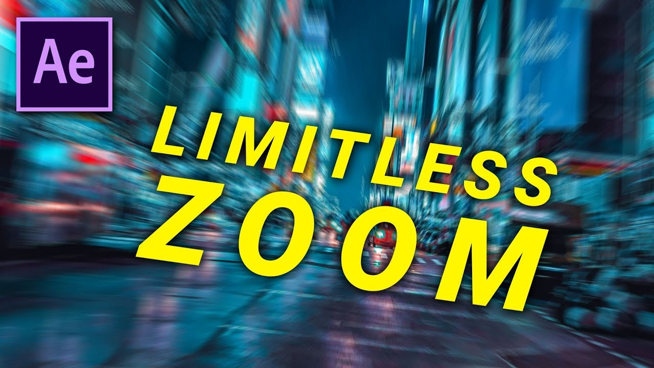 SUPER EASY Infinite Zoom - AFTER EFFECTS (Limitless)