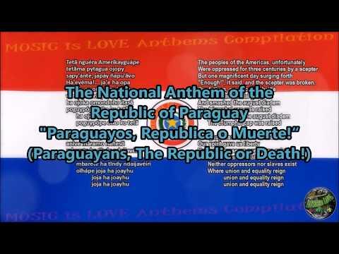 Paraguay National Anthem with music, vocal and lyrics Guarani w/English Translation