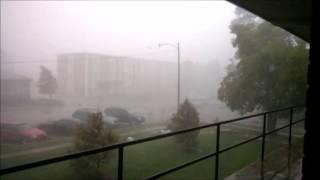 Storm hits ULM campus (Monroe, LA) 10-13-14 (Tornado Lifts 1 Mile From Campus)