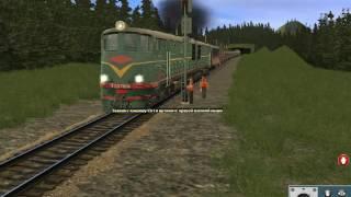 трейлер моего маршрута северная жд теловозная тяга Tranz Simulator 2012