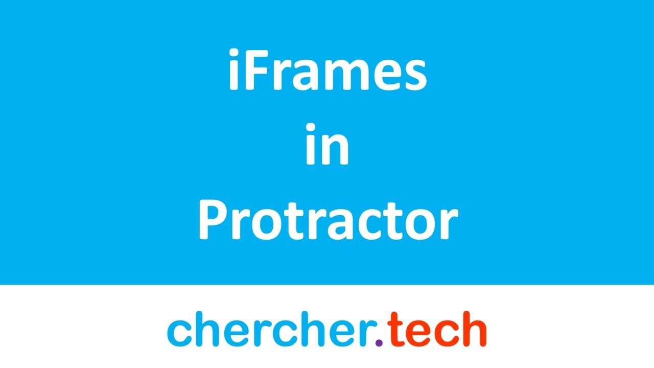 iFrames / Frames in Protractor | browser switchTo frame()
