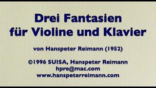 Fantasie No. 1, für Violine und Klavier von Hanspeter Reimann