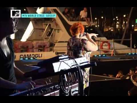 Gossip - MTV World Stage Live Porto Antico Genoa Italia 2009
