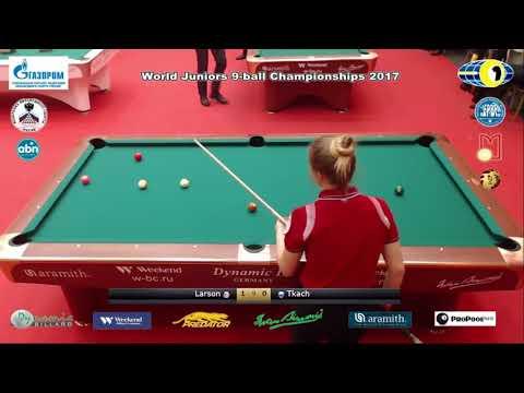 SF Larson April Rose v Tkach Kristina World Juniors 9 ball Championship 2017