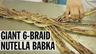 Breads Bakery's MASSIVE 6-Braid Chocolate Nutella Babka | Food Network