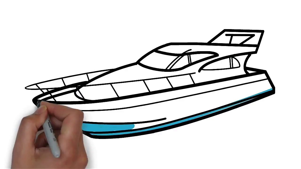 How To Draw A Yacht Step By Step Easy Drawing Lessons For Kids