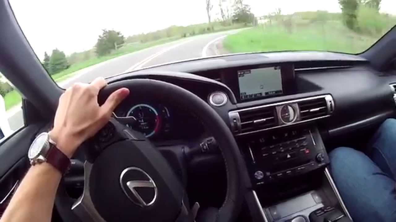 2014 Lexus IS 350 F Sport WR TV POV Test Drive YouTube