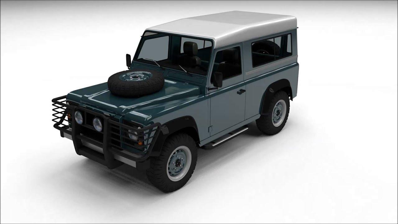 Land Rover Defender 90 Station Wagon 3D Model Blender Cycles OBJ