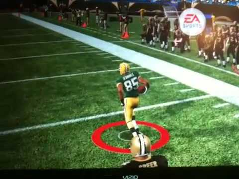 Greg Jennings (Broken Leg) scores on the saints
