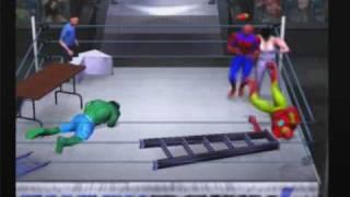 Repeat youtube video Hulk vs Spiderman vs Ironman vs Wolverine Origins HCTP TLC match