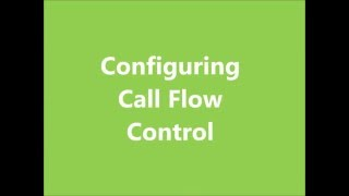 Call Flow Control
