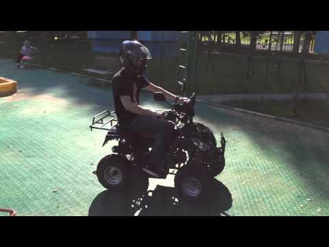 подростковый бензиновый MOTAX ATV A-23 125 сс + задний ход (Чёрный)