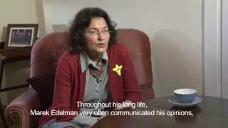Paula Sawicka remembers Marek Edelman - 70th anniversary of the Warsaw Ghetto Uprising