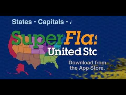SuperFlash United States - States, Capitals, Abbreviations
