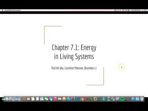 Chapter 7.1: Energy in Living Systems