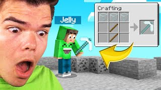 Playing MINECRAFT With A GLASS PICKAXE! (Impossible)