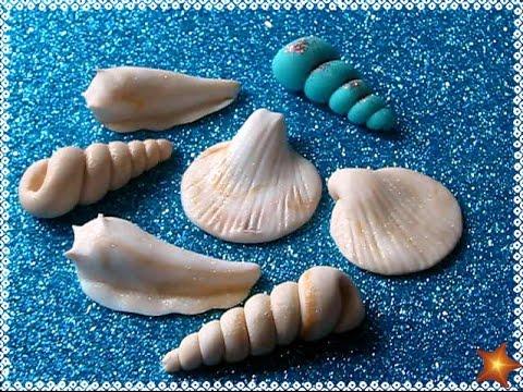 Como hacer caracoles de fondant pasta laminada f ciles y - Como hacer conchas finas ...