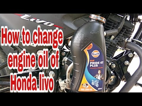 How to change engine oil of honda livo
