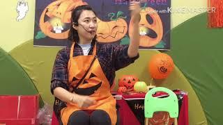 Happy Halloween party in Gwanggyo Chomsky English with Hani teacher,촘스키영어유치원