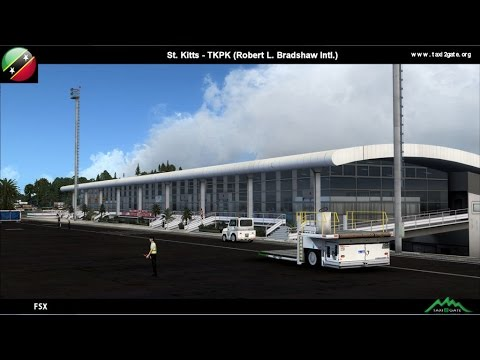 Taxi2Gate ST.KITTS TKPK ROBERT L.BRADSHAW INTERNATIONAL FSX (Featuring Skbernergy)